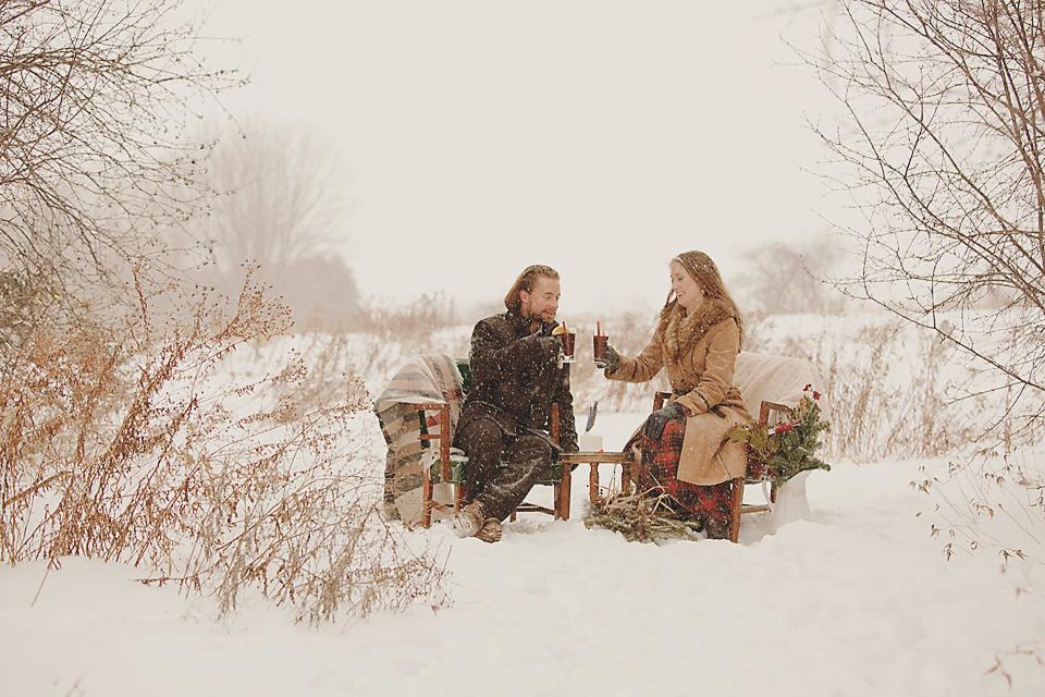 Winter engagement session Ottawa