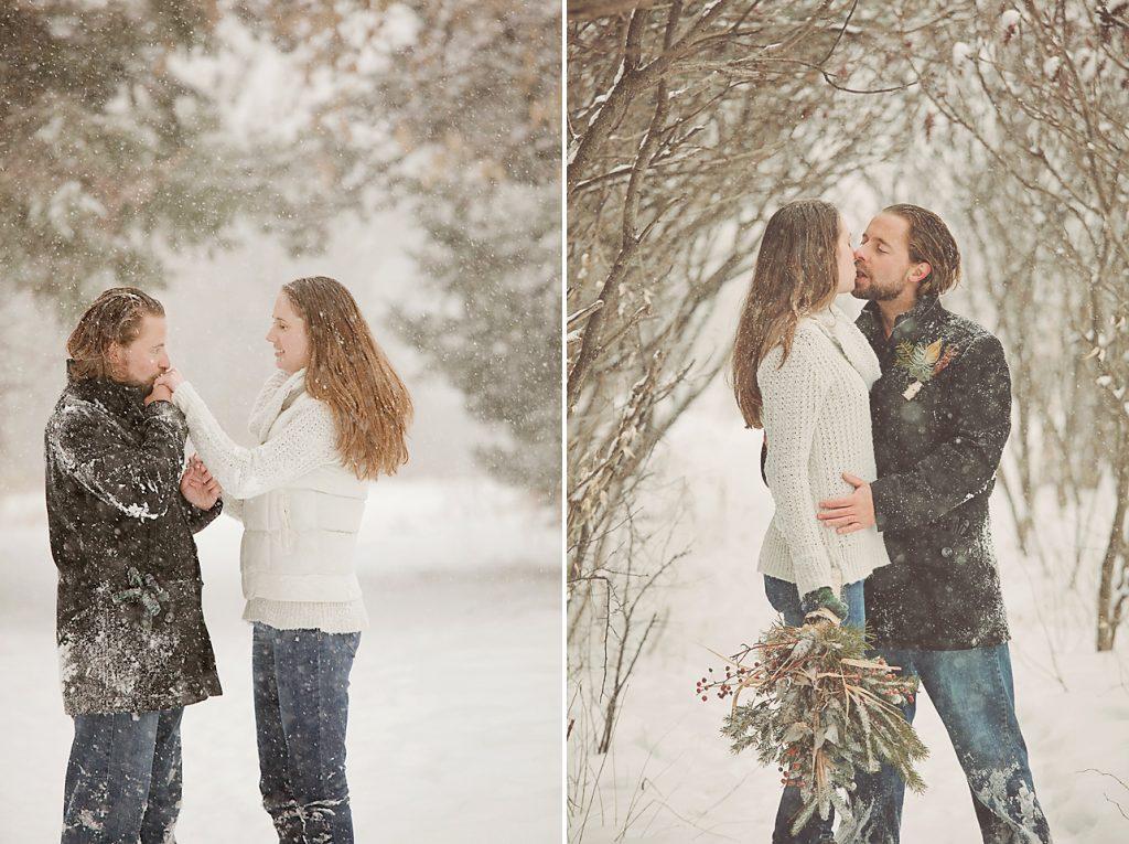 Ottawa winter engagement session