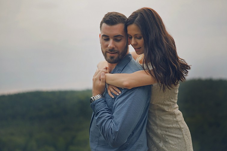 woman embracing man intimate moments